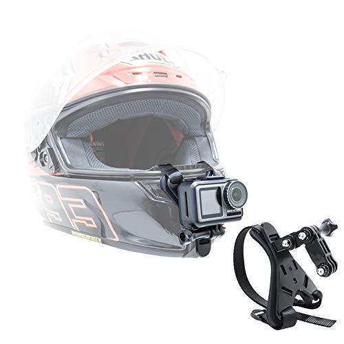 MEKNIC Motorcycle Helmet Chin Mount Widely Compatible with GoPro Hero 9/8/7/(2018)/6/5 Black,4...