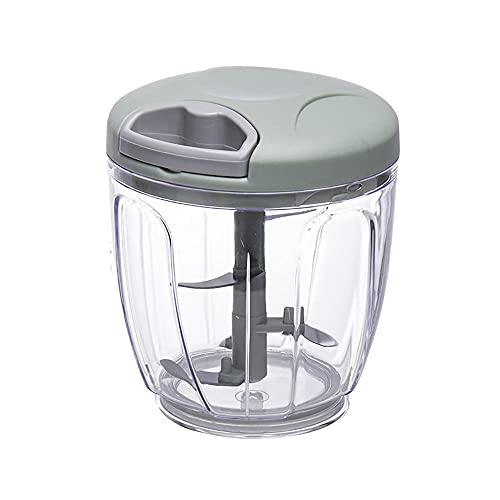 WANGLETA Mini Tritatutto Manuale Tritatutto Per Aglio Tritato Domestico Frullatore Multifunzionale Tritatutto Manuale Per Uso Domestico Mini Food Processor Verde 1000ml