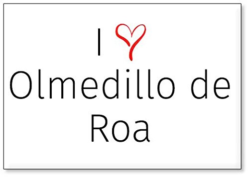 Mundus Souvenirs - Amo Olmedillo de ROA, Imán para Nevera (diseño 2)