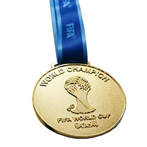 JXS 2014 Brasil Copa Mundial Medalla Replica, Medalla de Oro Conmemorativa olímpica de Río, Medalla de aleación de Zinc, Colección de Insignias de Fan