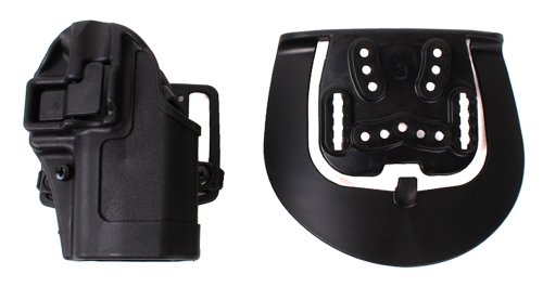 BLACKHAWK Serpa CQC Belt Loop and Paddle Carbon Fiber Holster For Glock 19/23/32/36 Right Hand Black