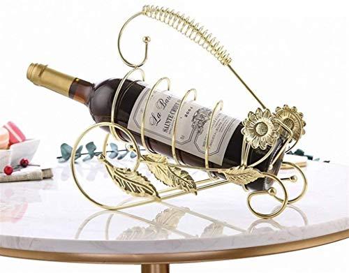 YYHAD Elegante Botellero, Vino Bastidores Pequeño encimera Adorno for los entusiastas de despensa Bodega Cocina Sala de Estar con Patas Plataforma Oro Bronce (Color: Bronce),Estante para Vino