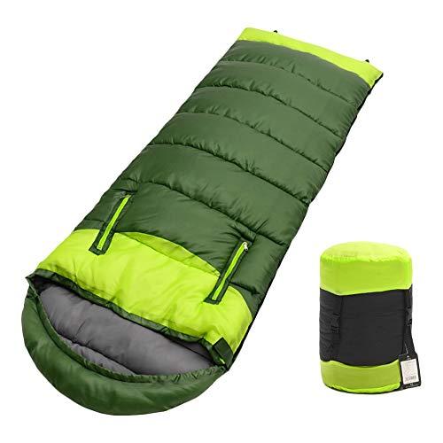 Wankd Mumienschlafsäcke, Schlafsack mit Kompressionsbeutel, breiter Trekkingschlafsack für alle 4 Jahreszeiten, leicht zu tranportieren, kompakt, für Camping, Komforttemperatur
