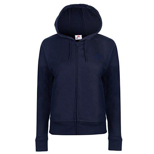 Lonsdale Damen RV Kapuzenpullover Taschen Marineblau M