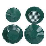 4pcs Herramienta de lavado de metal verde Sartén de lavado dorado, Kit de...