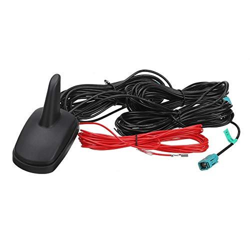 Autoantenne, Asudaro Auto Shark Haifischflosse Antenne, DAB+GPS Dachantenne Radio Antenne, Universal Kfz Antenne mit 5 m RG174-Kabel, 87,5-108 MHz, 12 V AM Funksignalverstärker,Schwarz