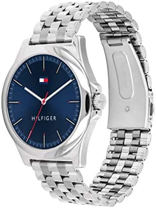 Tommy Hilfiger Men's Quartz Watch with Stainless Steel Strap, Silver, 20 (Model: 1791713) WeeklyReviewer