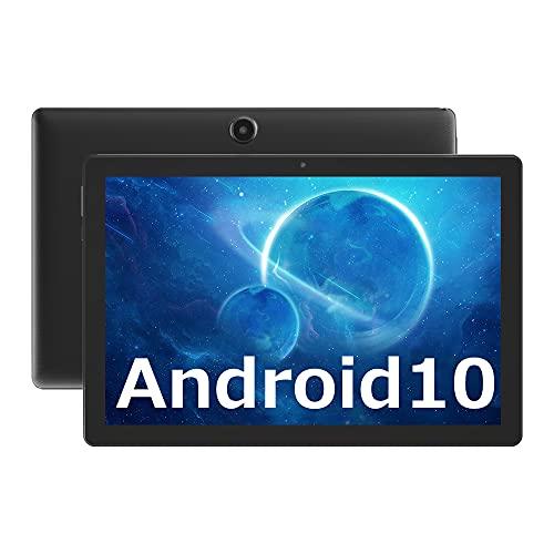 [2021新登場]YQ10 10インチ タブレット Android 10.0システム 4コアCPU IPSディスプレイ RAM2GB/ROM32GB Wi-Fiモデル GPS付き Google GMS認証 日本語取扱説明書付き(ブラック)