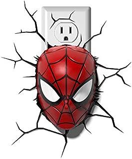 Dream Master 110V Marvel Spiderman Mask 3D Deco Night Light-1 Pack