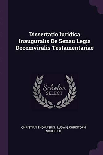 DISSERTATIO IURIDICA INAUGURAL