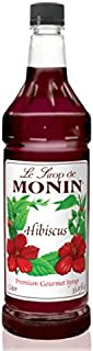 Monin Flavored Syrup,Hibiscus, 33.8-Ounce Plastic Bottle (1 Liter)