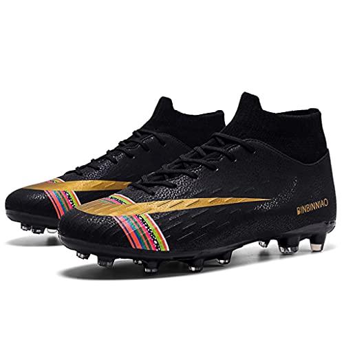 YUHAI Zapatos de fútbol Transpirables para Hombre con Cordones para Adolescentes Zapatos de fútbol de Alto Nivel de Competencia Antideslizante, B Long Nail-40