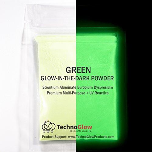 Glow in the Dark Sand   UV Black Light Reactive   Longest Brightest Glow (Green, 2 Ounces (60g))