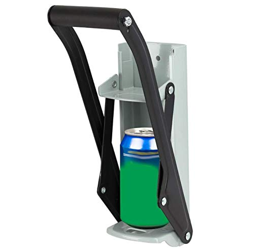 Beer Can Crusher – Wall Mounting 500ml Soda Can Crushing Tool, Tin Recycling Device with Bottle Opener, Easy Grip Handle
