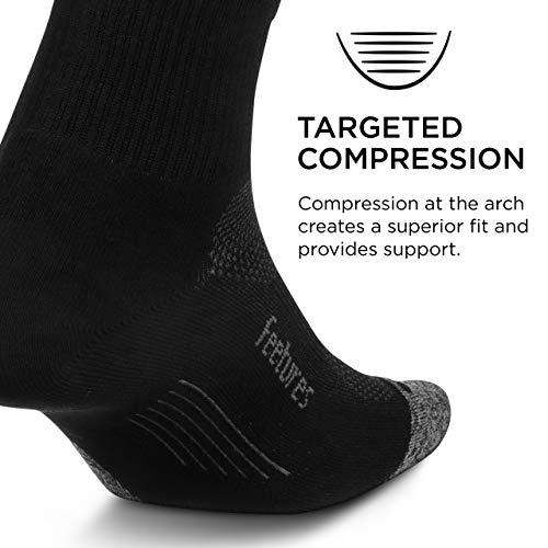 Feetures Elite Ultra Light Quarter Sock (Large, Black)