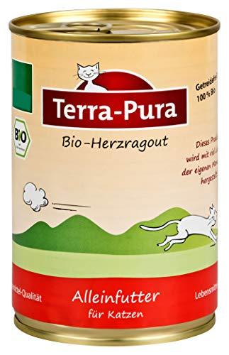 Terra Pura Bio Katzenfutter Herzragout 400 g Getreidefrei, 12er Pack (12 x 400 g)