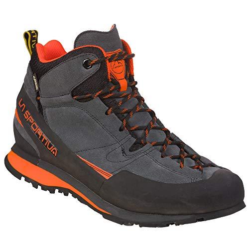 LA SPORTIVA Boulder X Mid GTX Grau-Orange, Gore-Tex Wanderschuh, Größe EU 38 - Farbe Carbon - Flame