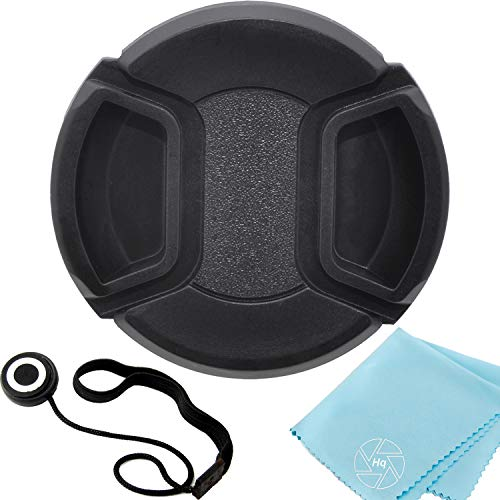 58mm Universal Snap-On Lens Cap for Canon EF-S 18-55mm f/3.5-5.6 is SLR Lens + Cap Keeper + Microfiber Cleaning Cloth