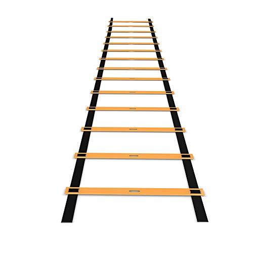 Escalera de entrenamiento de 8 m, 16 peldaños, escalera de agilidad, escalera de coordinación, escalera de entrenamiento para boxeo de entrenamiento de alta intensidad, fútbol, Lacrosse, etc.