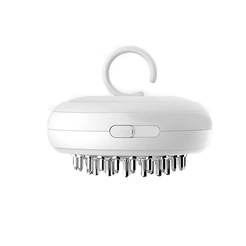 ペストリー割り当てる臭いイオンヘアブラシ-ポータブル電気ミニマイナスイオンラウンドブラシ振動頭皮マッサージブラシ、抗毛の櫛、帯電防止の大人または子供