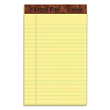 yellow note pads 5x8