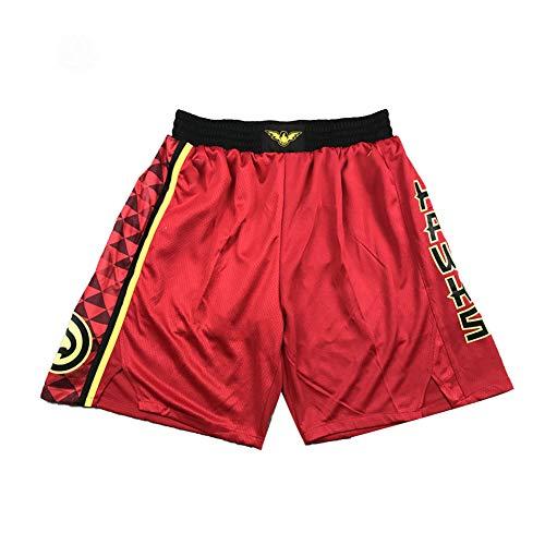 CLKI # 11 Joven Jersey, Hawks Youth Men's Bordado Chaleco Hip Hop Outdoor Secado Rápido Transpirable Cómodo Sudadera de Malla (S-2XL) Rojo B-L