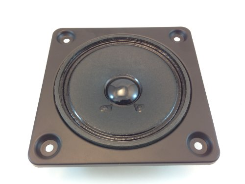 "4"" Sealed Back MID Range Speaker 8 OHMS @ 15 WATTS ON A 4-3/4"" Square MOUNTING Plate"