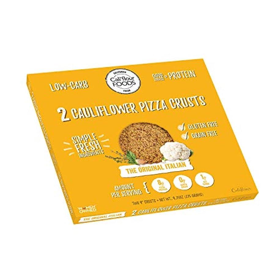 Cali'flour Foods Gluten Free, Low Carb Cauliflower Original Italian Pizza Crusts - 1 Box - (2 Total Crusts Per Box)