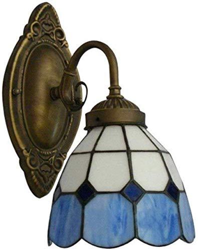 MEIXIAN wandlamp Shadow stijl wandspiegel Bowl Tiffany Vintage Retro Industrial - Blauw Eenvoudig Retro