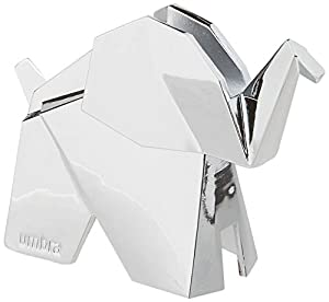Umbra Origami Elephant Ring Holder, Metal Ring Storage and Display for Jewelry, Chrome