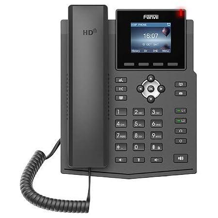 Fanvil X3SP (4-SIP) カラーIP電話機 PoEタイプ/日本語表示/SIP回線/コールセンター/オフィス/ビジネス/企業/LDAP/RJ9ヘッドセット/EHSワイヤレス/3CX/Asterisk/Broadsoft/Elastix