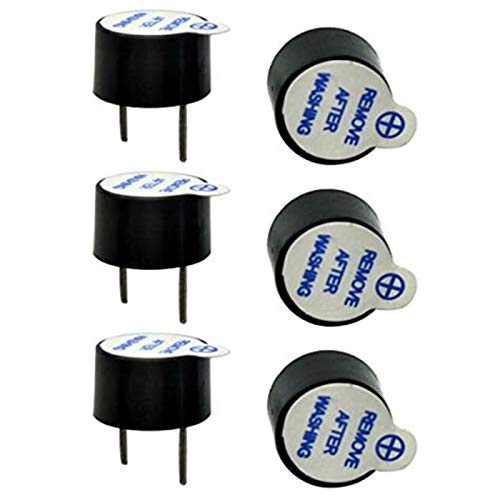 10pcs/Set 5V Active Buzzer kit Magnetic Long Continous Beep Tone Alarm Ringer 12mm Mini Active Piezo Buzzers Fit for Arduino DIY