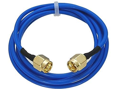 SIMNO JIAHONG Conectores de Cable de Alambre de 1 unids SMA Masculino Enchufe a SMA Masculino tapón rg402 0.141'Cable Azul Flexible Flexible 4 Pulgadas ~ 20m RF Conector coaxial (Pins : 12inch)