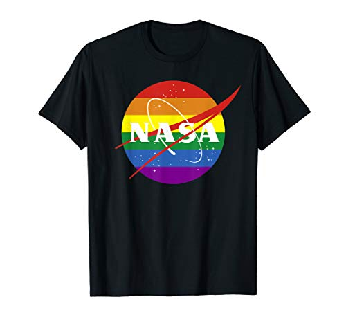 Pride Rainbow LGBT Shirt - Gay Pride Nasa T-Shirt T-Shirt