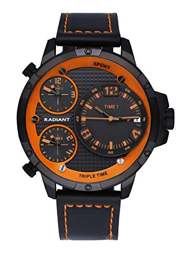 RADIANT Reloj PAPY 54 MM Esfera Y Correa Negra Y Naranja Ref RA551602