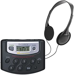 Sony SRF-M37V FM/AM/Weather/TV Radio Walkman with 25 Memory Presets (Discontinued by Manufacturer)