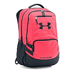 9310a80b33c The Under Armour Storm Hustle II is a solid backpack for Disney World  vacations. It s constructed of a water-resistant 81% polyester 19% nylon  blend and has ...