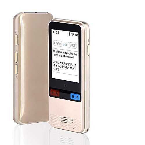 Language Translator Device,Translator Device Support 89 Languages,Portable Instant Voice&Text &Recording WiFi/Hotspot/Offline Two Way Translator for Business Travelling