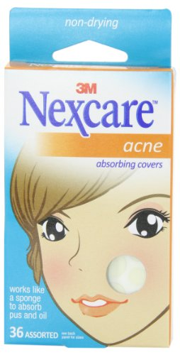 Nexcare Acne Cover, Hydrocolloid Technology, Invisible, 36 count