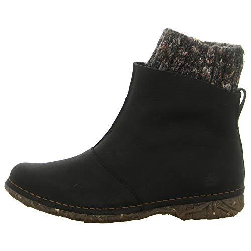 El Naturalista Damen Ankle Boots Angkor, Frauen Stiefelette, Stiefel Boot halbstiefel Bootie reißverschluss Damen Frauen Lady,Black,38 EU / 5 UK