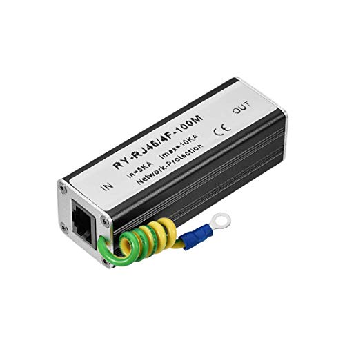 N A Ethernet Surge Protector for 10 100M Base-T Modem Thunder Lightning Protection 83x28x25mm
