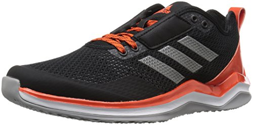 adidas Men's Speed Trainer 3 Shoes, Black/Iron/Collegiate Orange, 6.5 M US