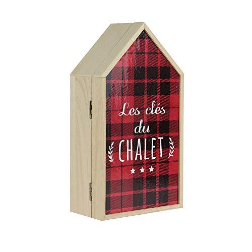 THE HOME DECO FACTORY HD4763 Boîte à clés du chalet, en bois 14,8x27,4cm