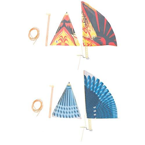 RK-HYTQWR Kleurrijke rubberen band aangedreven vliegende vogel windmolen grappig klassiek speelgoed voor kinderen,lente vliegen, rubber, hout, nylon
