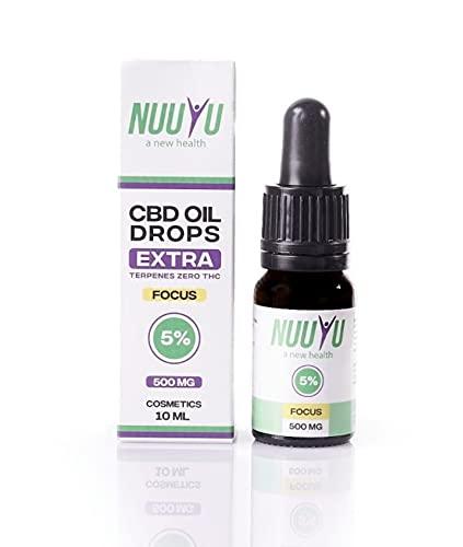 Nuuyu - Focus - Tropf mit 5% CBD-Öl -...