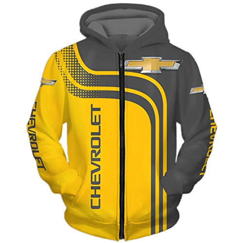 guonan Herren Hooded Jacke Hoodie/T-Shirt Chevrolet Voll 3D Drucken Leicht Sweatshirt Unisex Beiläufig Sportkleidung Y/A / 2XL