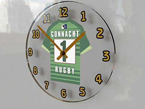 Guinness Pro 12–Rugby Union Jersey Wanduhren–Jeder Name, beliebige, jedes Team, kostenlose Personalisierung., damen, CONNACHT RUGBY