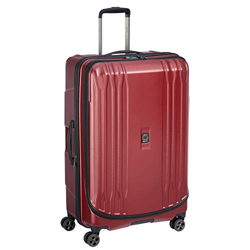 DELSEY Paris Eclipse DLX Expandable Luggage with Spinner Wheels, Imperial Red, Checked-Large 29 Inch