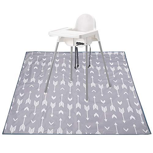 "Phiraggit Splash Mat, 51""Splat Mat debajo de la trona, antideslizante, impermeable, lavable, para la trona, Splash Mat, Toddler Art Mat, Picnic Mat, Portable Play Mat y mantel"