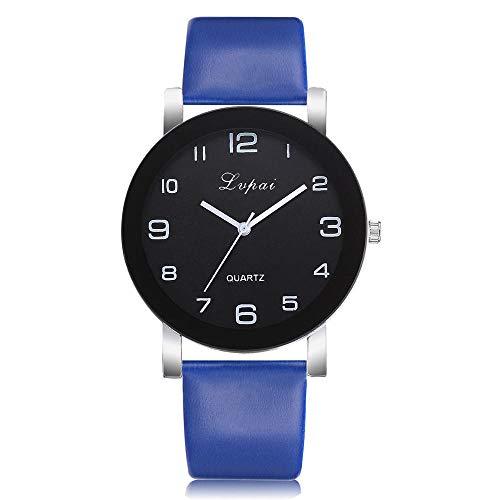 SANDA Reloj Hombre,Reloj de Pulsera analógico de Cuero de Cuarzo Informal para Mujer a la Moda, Regalo de San Valentín, Cristal, Acero Inoxidable-gramo